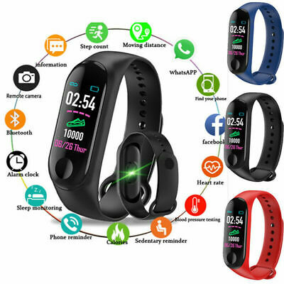 Smart Watch Band Bracelet Fitness Activity Tracker Blood Pressure Heart Rate CA