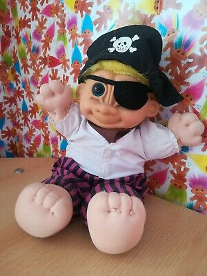 Russ Troll Kidz Soft Body Pirate Retro Vintage Collectable 90s Toy