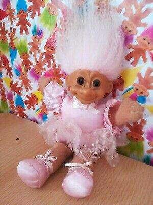 Russ Troll Soft Body Ballerina Retro Vintage Collectable 90s Toy Pink