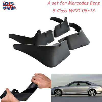 A Set For Mercedes Benz S Class W221 08~13 OEM Splash Guards Mud Guards Flaps