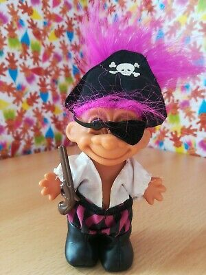 Russ Troll Pirate Retro Vintage Collectable 90s Toy Pinky Purple Hair