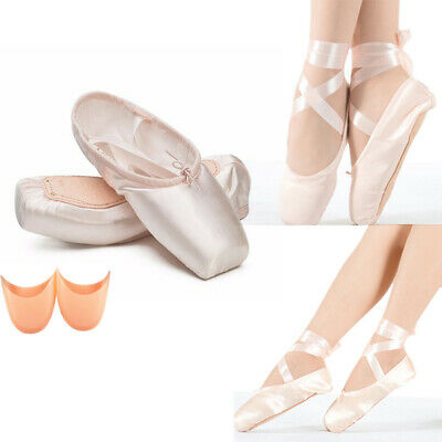 Pink Ballet Dance Toe Shoes Professional Lady Girl Children's Satin Pointe Shoes