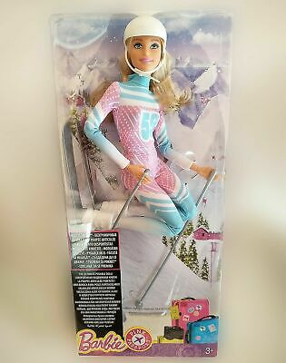Barbie Skier Made to Move Doll Pink Passport - Brand New