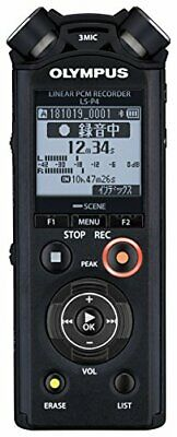 Official OLYMPUS Linear PCM Recorder LS-P4 Black JAPAN Import