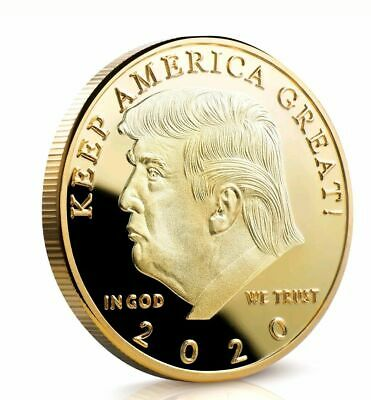 Donald J Trump 2020 Keep America Great Commander In Chief Gold Challenge Coin KF