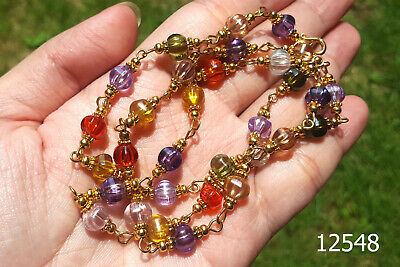 Colorful Crystal Naga Eye Buddha bead Bracelet/Necklace/Prayer Amulet #12548a