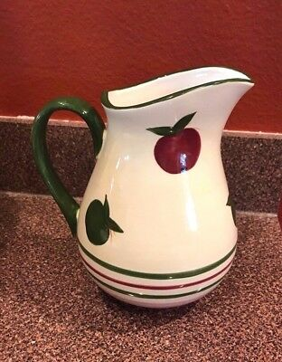 FRANCISCAN Wedgwood Group APPLE PIE PITCHER Hand-Painted Earthenware