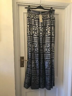 9f44bed36 New Temperley London Black & Silver Cotton & Silk Ora Lace Long Party Skirt  ...