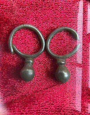 bronze earrings berries Penkovo culture 6-8 century early Slavs