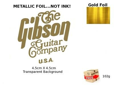 The Gibson Guitar Headstock Decal Restoration Inlay Waterslide Logo 102g