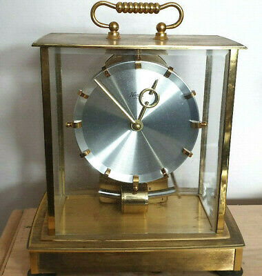 Kundo Mantel Clock Electromagnetic Pendulum Kieninger Obergfell Glass Side Case