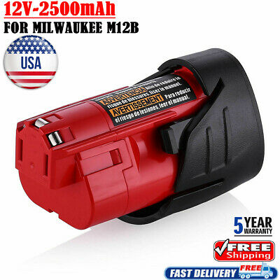 FOR Milwaukee M12 48-11-2420 M12 M12B5 Lithium-ion 2.5 Compact Battery Pack tool