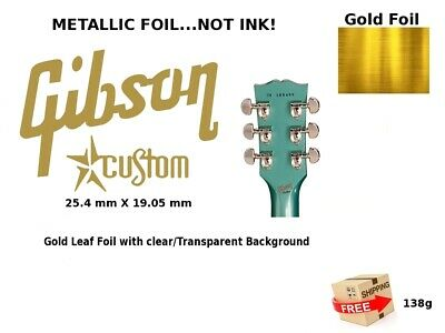 Gibson Guitar Headstock Decal Restoration Inlay Waterslide logo 138g