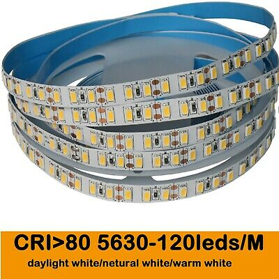 5M 5630 LED CRI RA 80+ Leiste Lichterkette Streifen Strip 120 LEDs/M 600 LEDs
