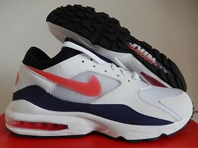 new product 90de1 122ed Nike Air Max 93 White-Habanero Red Sz 13  306551-102