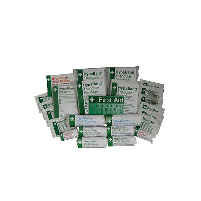 HSE First Aid Kit Refills - Plasters, Dressings, Bandages, Wipes, Pins, Gloves
