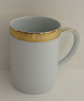 "Centurion Collection 9414 Pure Gold coffee 4"" cup white gold hot beverage mug"