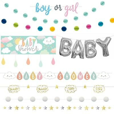 Unisex Baby Shower Banners - Neutral, Foil ,Jointed ,Ribbon ,Garlands ,Giant