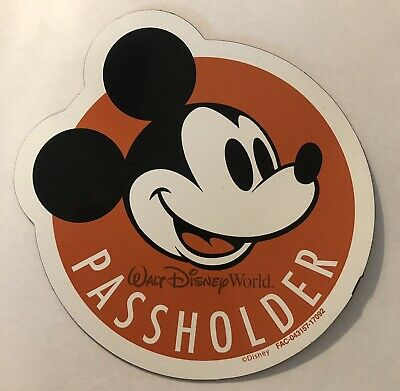 Walt Disney World Annual Passholder Mickey Mouse car magnet Orange Classic AP
