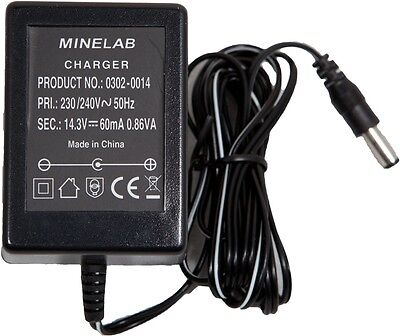 NEW Minelab Excalibur / Sovereign XS / XS2A Charger NICAD 230V - DETECNICKS LTD