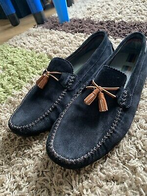9d0204a7992 TED BAKER Men s Navy Suede Loafers Driving Shoes Size 10 EU 44 Brand New