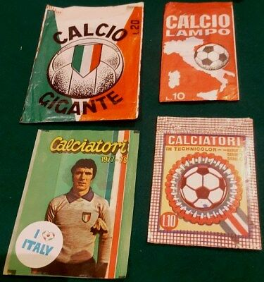 CALCIATORI 1977-78 Vuota-Empty Calcio Crema Bustina//Packet figurine