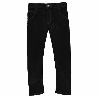 Kids Boys Firetrap Slouch Jeans Junior Skinny Zip New