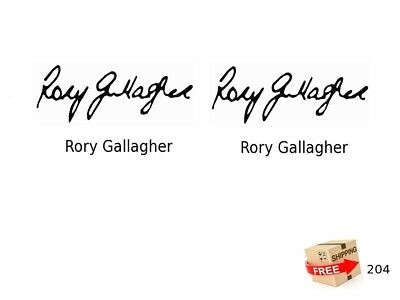 Roy Gallagher Signature  Guitar Headstock Decal Waterslide inlay 204