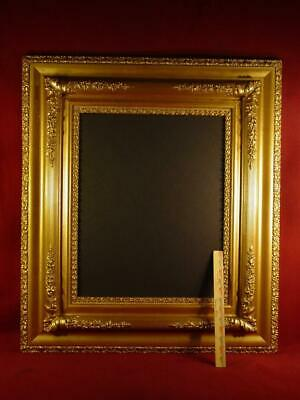X LARGE ANTIQUE EARLY 1900s ORNATE GOLD GESSO PICTURE FRAME 29X33 EXCELLENT