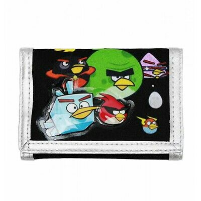 Angry Birds by Rovio Space Terrence Bomb Lazer Black Kids Boys Trifold Wallet