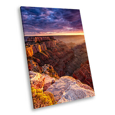 Orange Grand Canyon Sunset Portrait Scenic Canvas Wall Art Large Picture Prints