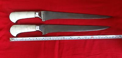 Indo Persian Mughal Islamic  Wootz Steel  kard knife Dagger  2pcs