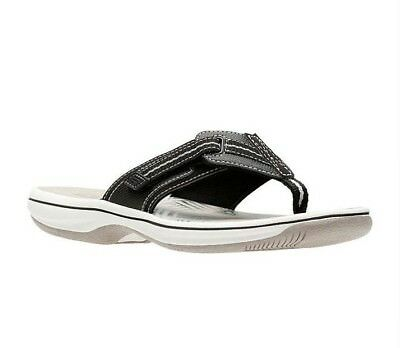 4635aa7dd933 CLARKS SANDALS BRINKLEY Jazz Womens Flip Flop Size 7 M Black ...