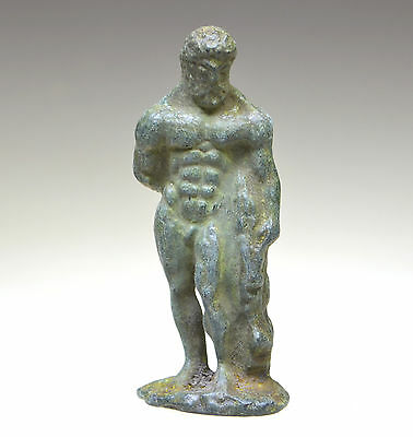 Roman Bronze Figurine of Hercules
