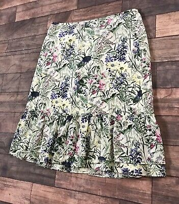 Women's Clothing Clothing, Shoes & Accessories Ann Taylor Petite Women Skirt Sz 12p Floral Pink 100% Silk String Lined Zip Euc 100% Original