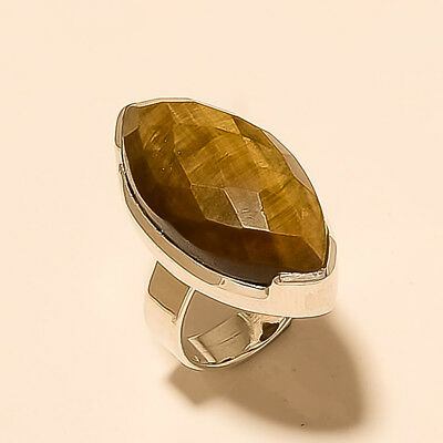 f9aa6cd45 Natural Brazilian Tiger Eye Ring 925 Sterling Silver Christmas Men's Jewelry  New