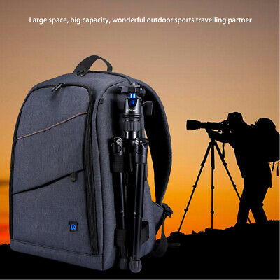 PULUZ Outdoor Camera Backpack Anti-theft Waterproof Bag For DSLR Sports Case US