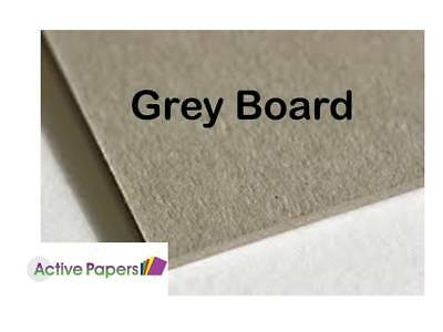 Greyboard 500 microns A5 A4 A3 A2 12x12inch Smooth Recycled Grey Board