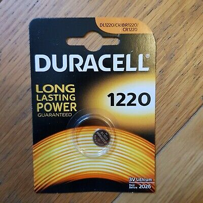 1x Duracell CR1220 3 Volt Lithium Coin Cell Battery 1220 DL1220 Longest Expiry