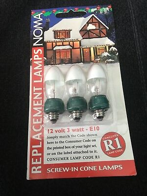REPLACEMENT 6V 0.7W CLEAR WHITE LES E5 VINTAGE SPARE XMAS LIGHT BULB NOMA PIFCO