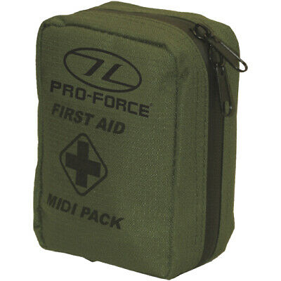 Pro-Force First Aid Emergency Midi Pack Military Rescue Army Injury Pouch Olive