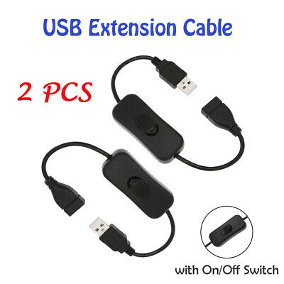 2x USB Extension Cable Male to Female Cord Power Line For Laptop Mini Fan D0V0
