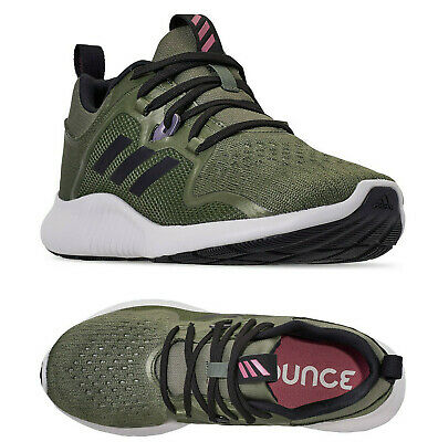 Women Adidas Edgebounce Running Shoes Olive Pink Adidas BB7561 NEW