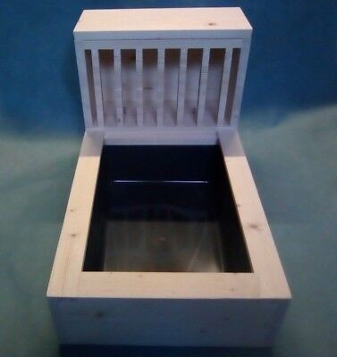 Large 18mm Kiln Dried Pine Wood Rabbit Hay feeder rack,litter tray NOT included