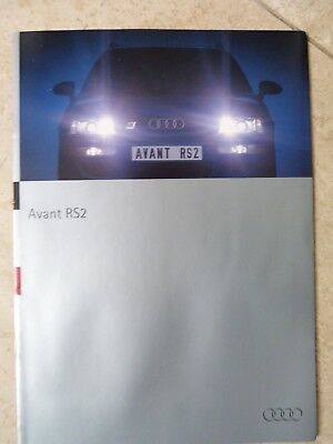 Rare Catalogue AUDI RS2 PORSCHE - Français
