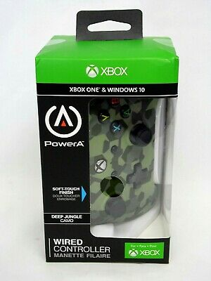 Power A Xbox One & Windows 10 Wired Controller Deep Jungle Camo