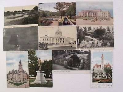 Minnesota! St. Paul, Mn Pre- Linen 10 Postcard Lot Posted Most >100 Yrs Old #518