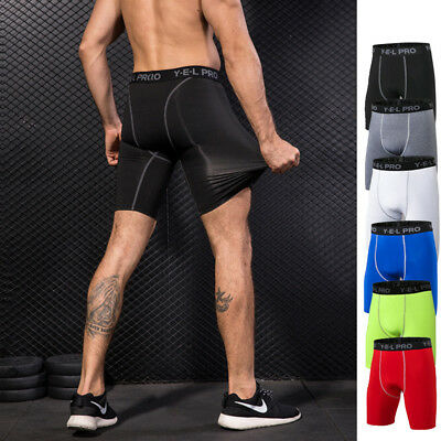 Men Quick Dry Compression Tight Shorts Sports Short Pants Trousers Cool A238