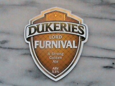 Dukeries Lord Furnival golden ale real ale beer pump clip sign