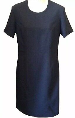St Michael From Marks & Spencer Black Lined Sheath Dress Size Uk 10